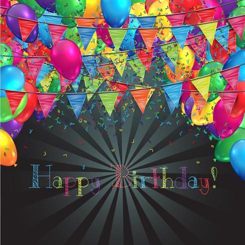 Ilustração para aniversário ou qualquer comemoração, vetor