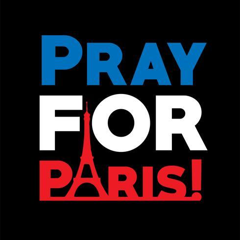 """Pray for Paris"", vector illsutration"