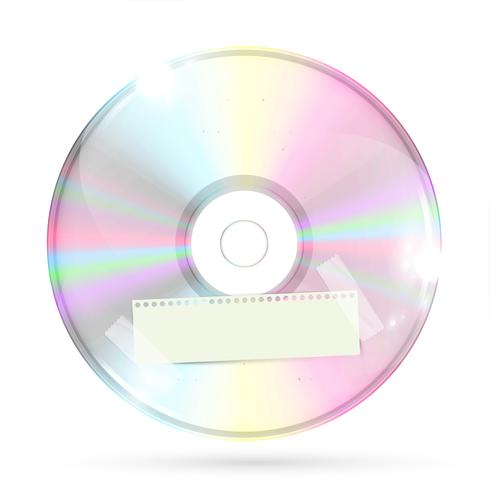 CD/DVD on white background, vector illustration