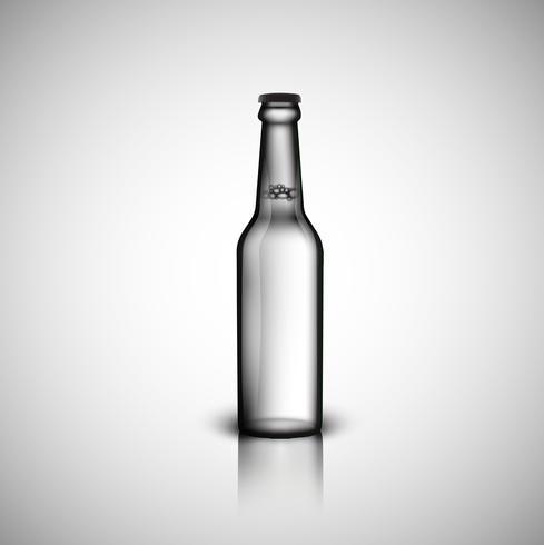 Bottiglia realistica trasparente, illustrazione vettoriale