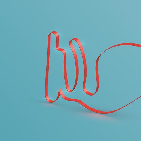Realistische lintdoopvont van een gezet, vector