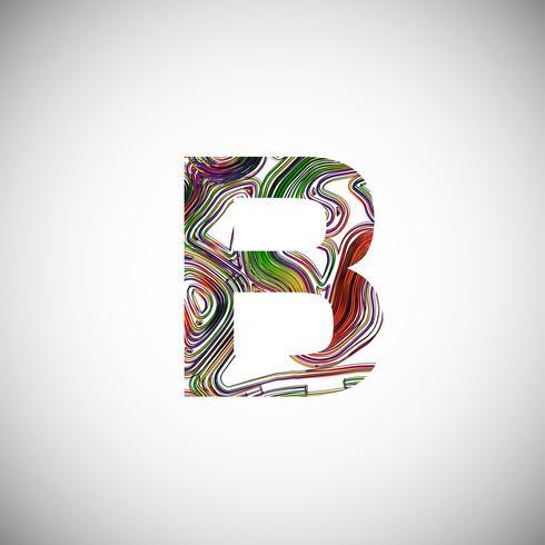 Kleurrijk karakter van een lettersoort, vectorillustratie vector