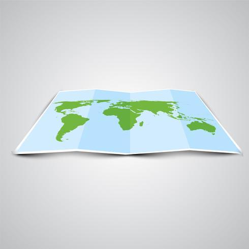 Mappa del mondo in 3D, vettoriale
