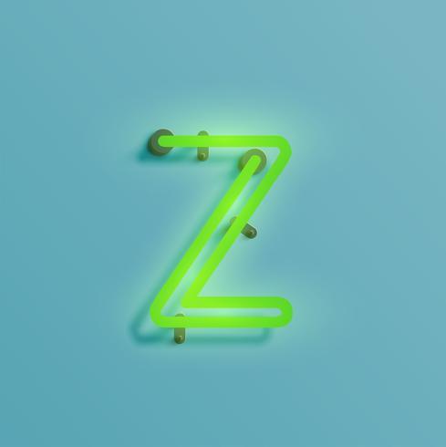 Personagem de néon realista de um typeset, vetor