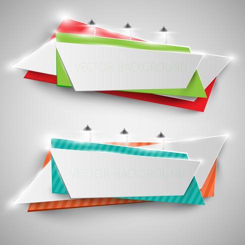 Kleurrijk aanplakbord voor reclame, vector