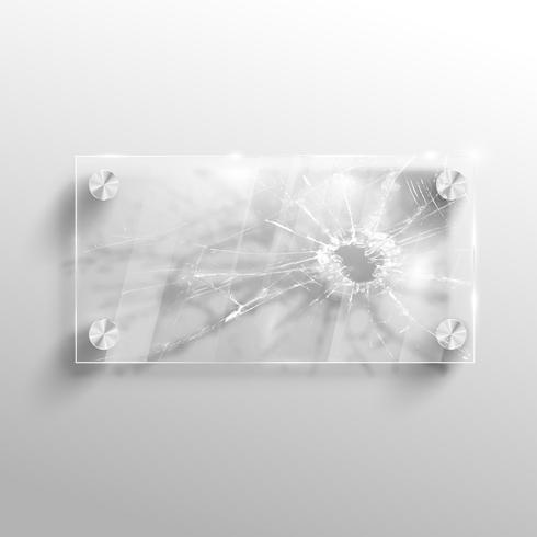 Brutet glas, vektor