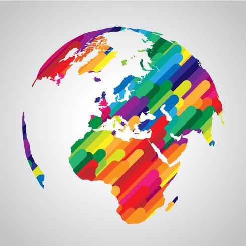 Kleurrijk abstract wereldsymbool