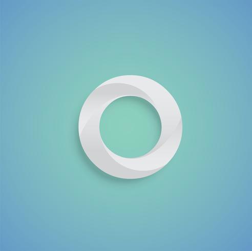 Carattere del Libro Bianco su fondo blu da un composto, vettore