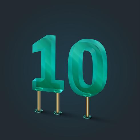 Antal gjorda av glas, vektor