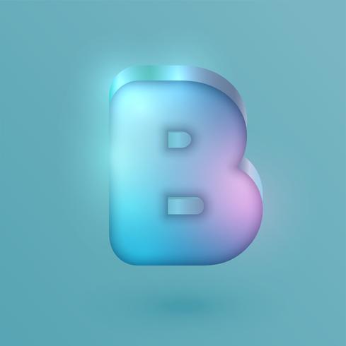 3D realistisk neon karaktär, vektor