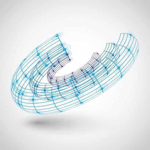 Globo con órbitas, ilustración vectorial