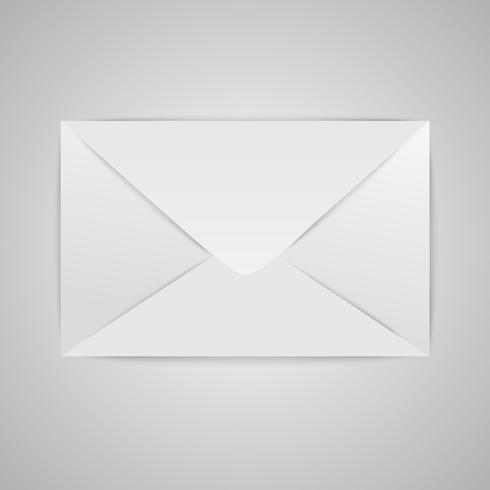 Realistic closed envelope, vector illustration