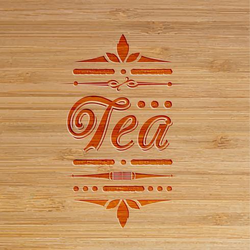arte esculpida de chá, vetor