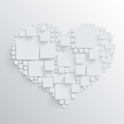 Heart with squares vector