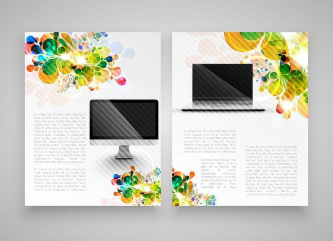 Coloridas plantillas realistas para publicidad o presentación, ilustración vectorial vector