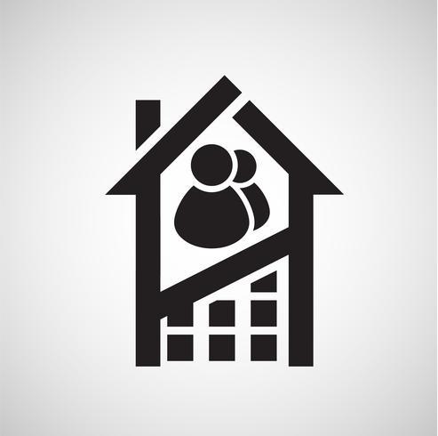 Icona di alloggio, vettoriale