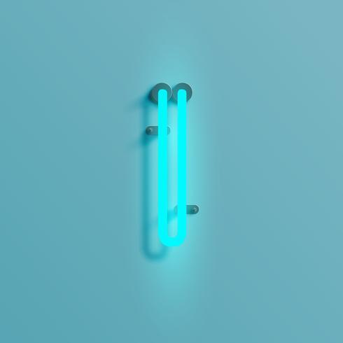 Realistisch neonkarakter van een gezet, vector
