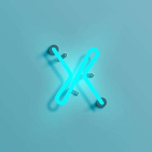 Realistisk neon karaktär från en uppsättning vektor