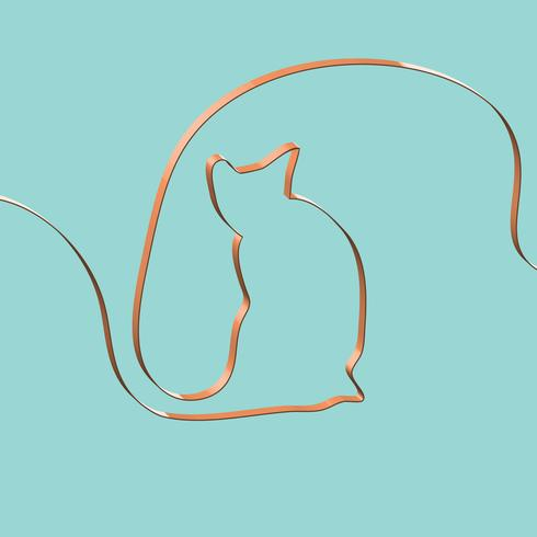 Het realistische lint vormt een dier, vectorillustratie vector