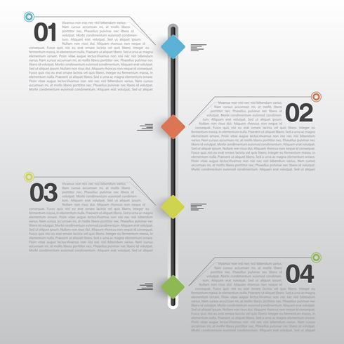 Minimales Design von Infografiken