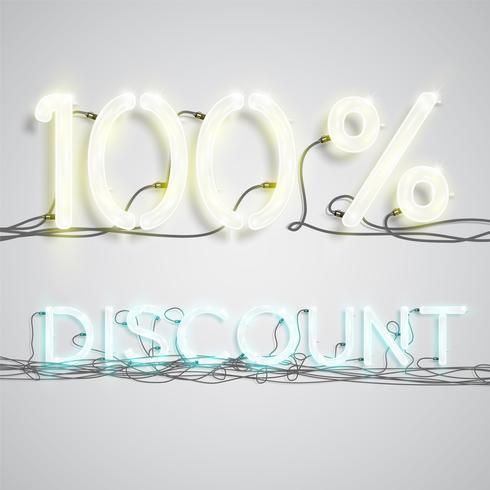 Percentage korting, vectorillustratie