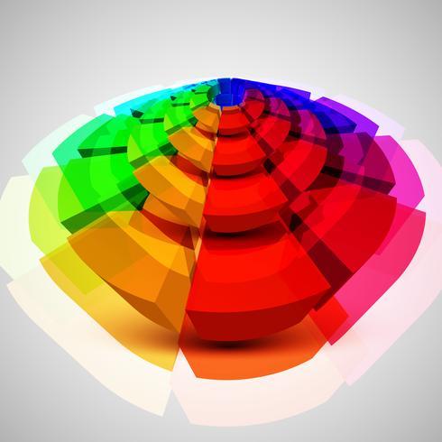 Círculo colorido 3D, vetor
