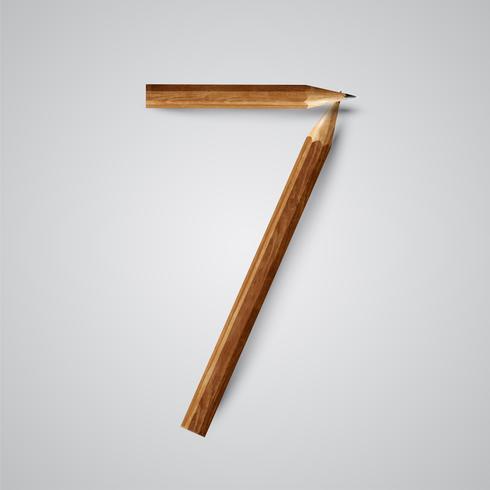 Número de lápiz, vector