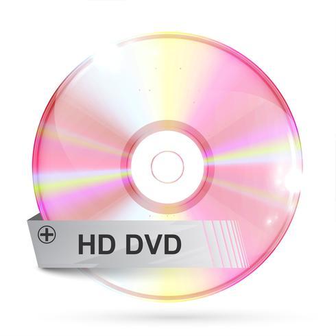 CD / DVD sobre fondo blanco, ilustración vectorial vector