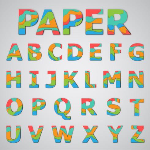 Conjunto de fontes coloridas, ilustração vetorial