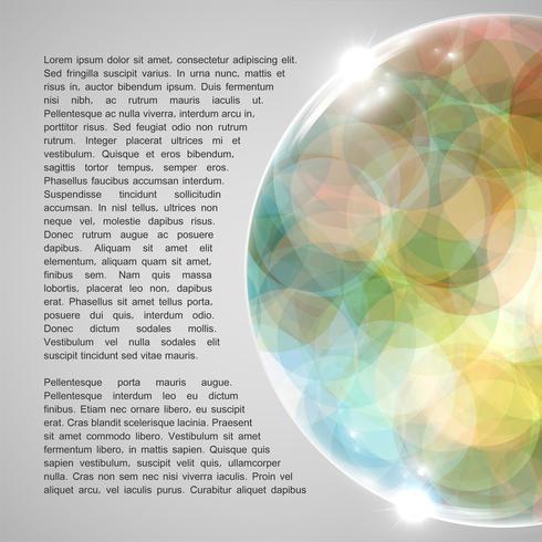 Färgrik jordklot, vektor illustration