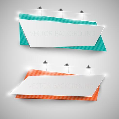 Cartazes realistas com luzes, ilustração vetorial