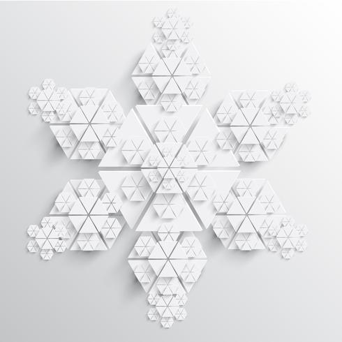 Abstrakt pappers snöflinga vektor illustration
