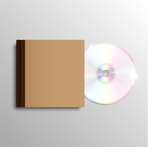 Caja de CD marrón, vector