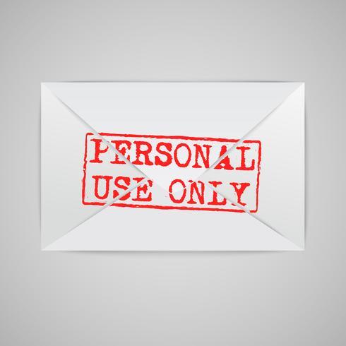 Ett kuvert med ett varningsskylt, vektor