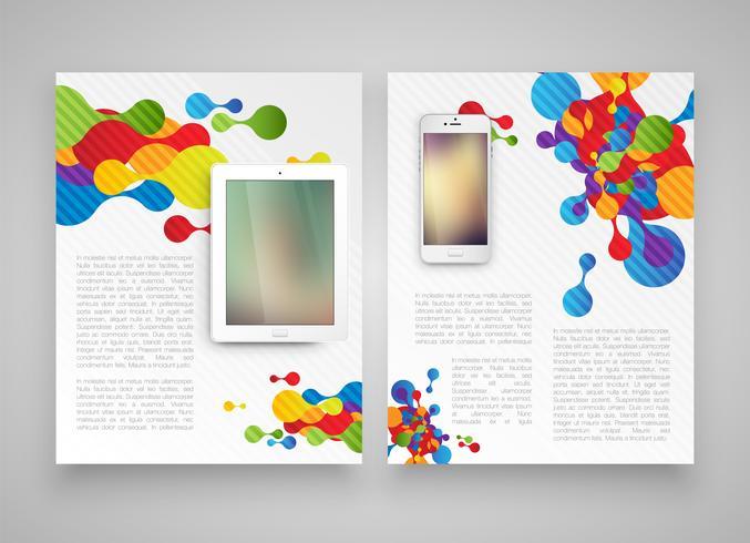 Bunte Schablonen für Netz und Werbung, Vektorillustration