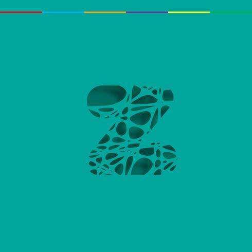 Carácter recortado de un conjunto de fuentes, vector