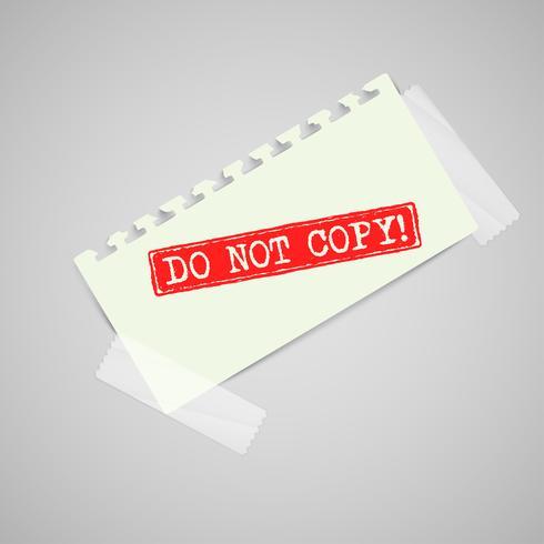 Note de papier avec panneau d'avertissement, vector