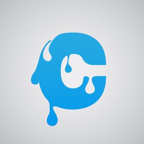 Personagem de fluxo azul, vetor