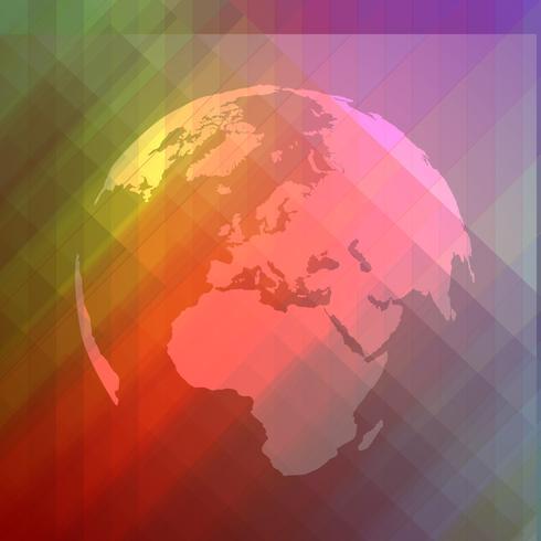Símbolo del mundo abstracto colorido vector