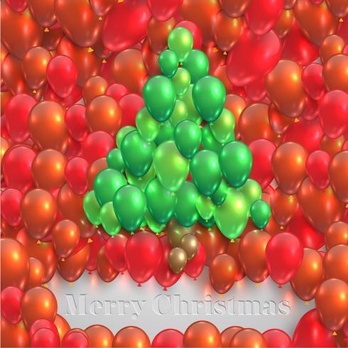 Sapin de Noël fait par des ballons, vector