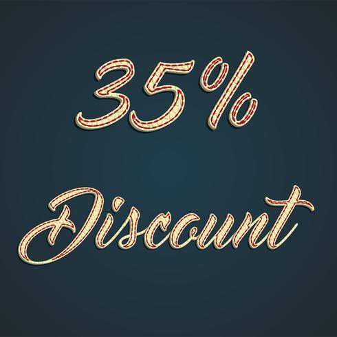 Signe de cuir «discount», illustration vectorielle