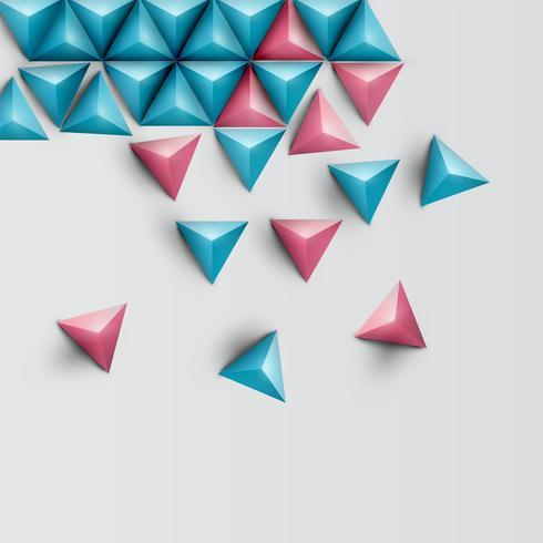 Fond de triangle réaliste 3D, illustration vectorielle