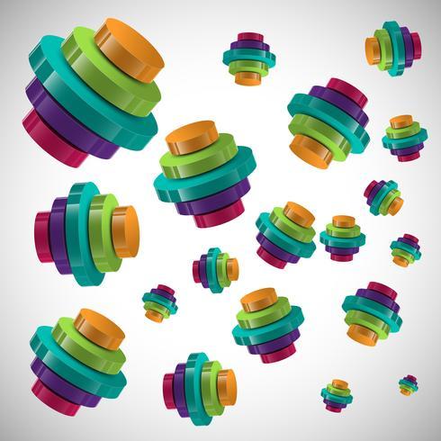 3D infographic vector design