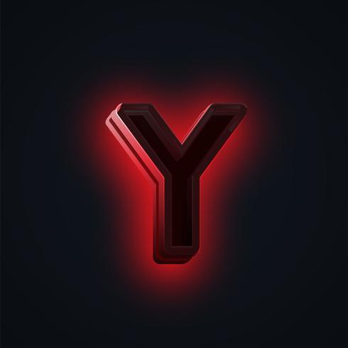 """Rotes """"CLUB"""" Neonlichtzeichen aus einem fontset, Vektor"""