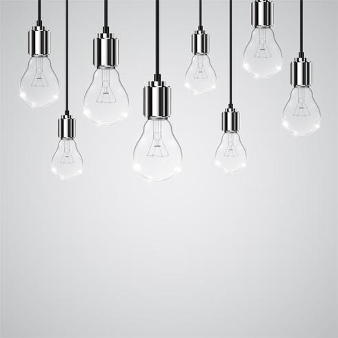 Ampoule réaliste, illustration vectorielle