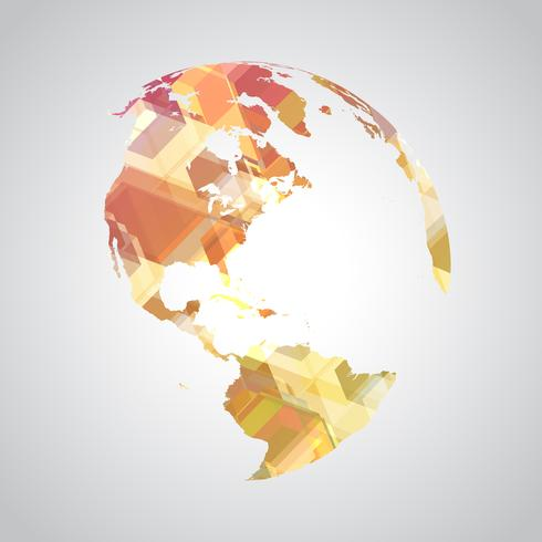 Símbolo del mundo abstracto colorido