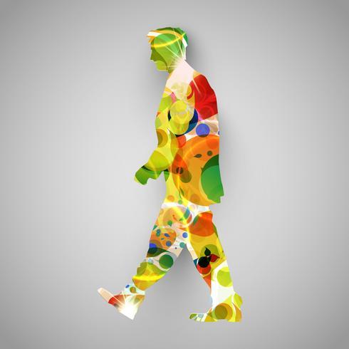 Colorful walker vector illustration