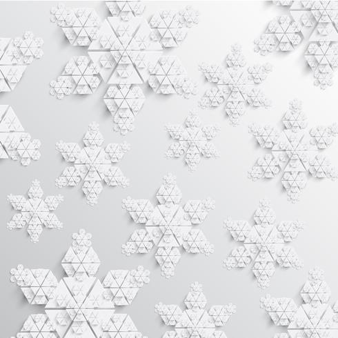 Abstract paper snowflake vector illustration