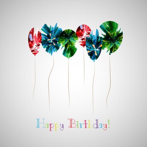 Ilustración vectorial de una tarjeta de felicitación de cumpleaños feliz