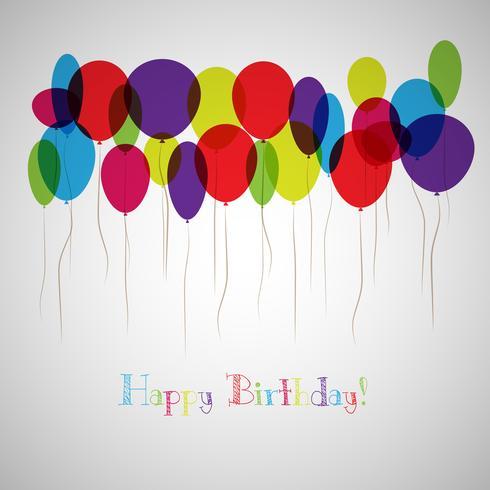 Ilustración vectorial de una tarjeta de felicitación de cumpleaños feliz vector